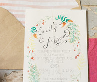 DIY summer wedding invitations