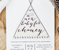 Adventurer baby shower