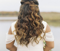 Romantic wedding hairstyle inspiration