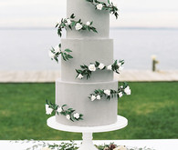 Grey wedding cake