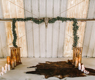 Romantic equestrian wedding backdrop