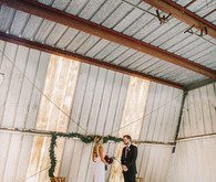 Romantic equestrian wedding ceremony
