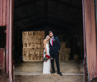 Romantic equestrian wedding portrait