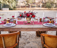 Equestrian wedding tablescape