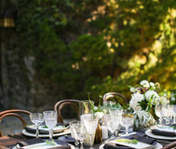 Modern California wedding tablescape