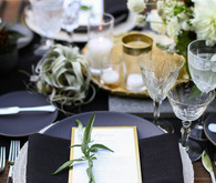 Modern California wedding place setting