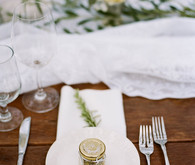 Garden wedding place setting