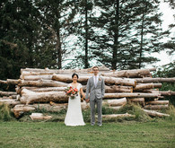 Rustic wedding portrait