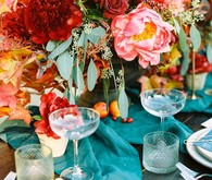 Fall jewel toned wedding
