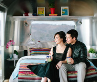 Malibu airstream engagement session
