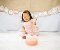 Feminine pink first birthday ideas