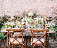 French garden tablescape