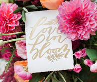 Colorful spring wedding signage