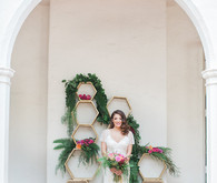 Colorful spring bridal portrait