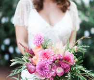 Colorful spring bridal bouquet