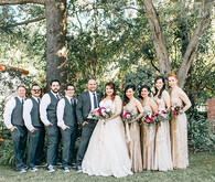 Wedding party portrait