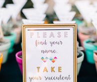 Succulent escort cards