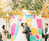 Colorful wedding ceremony