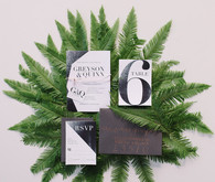 Industrial modern wedding invitation suite