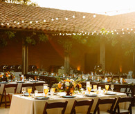 Spanish style wedding reception