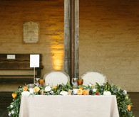 Spanish style wedding sweetheart table