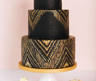 Black wedding cakes
