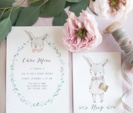 Bunny birthday invitations