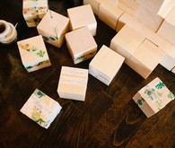 DIY baby shower blocks