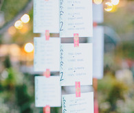 Hanging escort card
