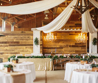 Rustic California wedding reception
