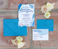 California desert wedding invitation suite
