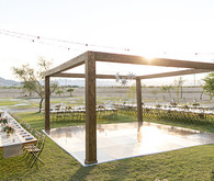 Rustic wedding dance floor