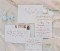 Romantic spring wedding invitation suite