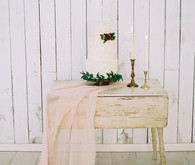Romantic spring cake table