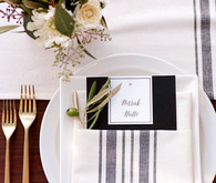 Casual modern wedding place setting