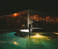 Modern desert wedding venue