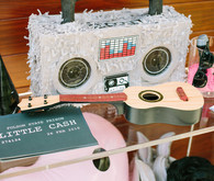 photo booth props for Johnny Cash 1st birthday