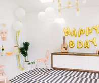 Modern gold and white 1st birthday
