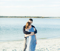 romantic coastal maternity photos
