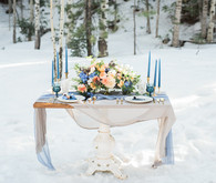 Blue wedding tablescape