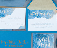 Winter blue wedding invitation