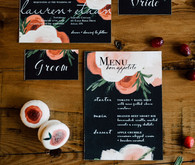 Modern winter wedding invitation