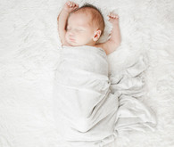 Sleepy newborn photo