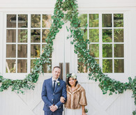 Green garland decor