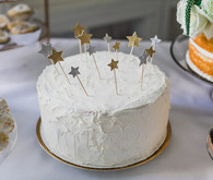 Gold star cake toppers