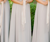 Pale grey bridesmaid dresses