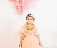 pink and gold 1st birthday