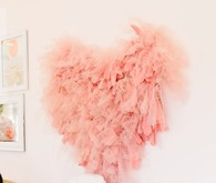 ruffle heart decoration