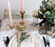 Blush vintage place setting
