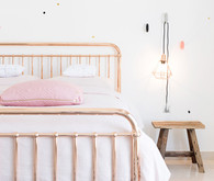 copper girls bed